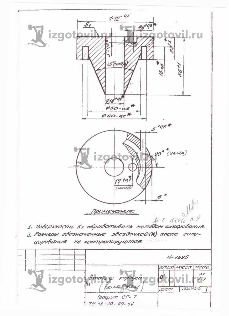 Токарно-фрезерная обработка - сопло фарсунки