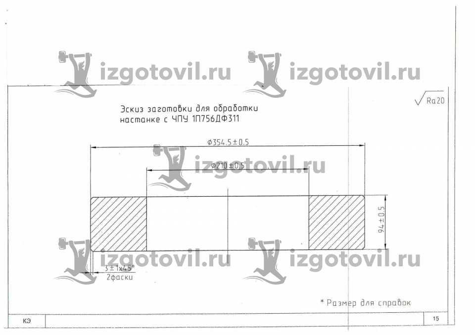 Токарная обработка ЧПУ - изготовление паковок