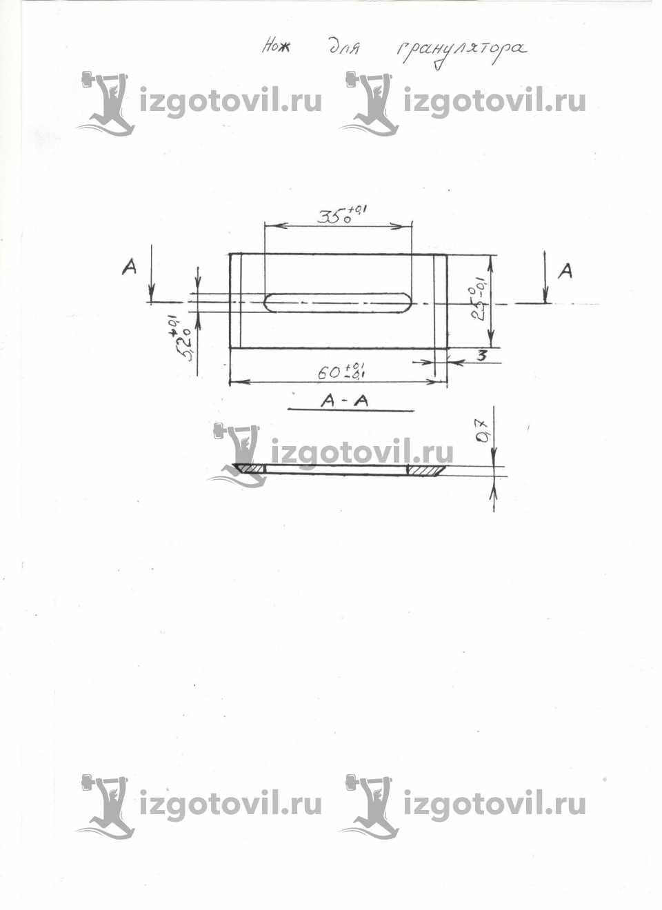 Литейное производство-изготовление ножей