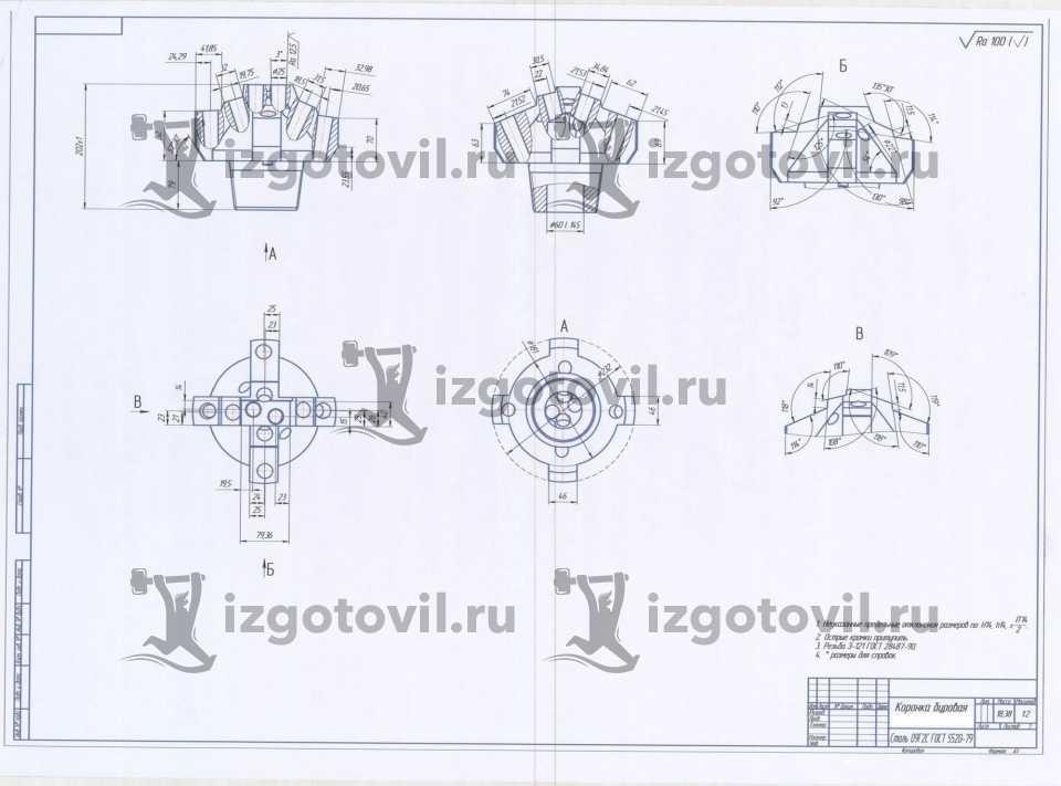Токарная обработка ЧПУ - буровая коронка