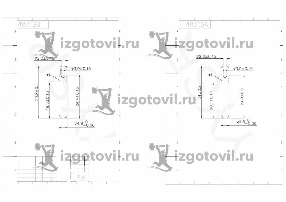 Токарная обработка стали - изготовление штифтов для вилочной арматуры