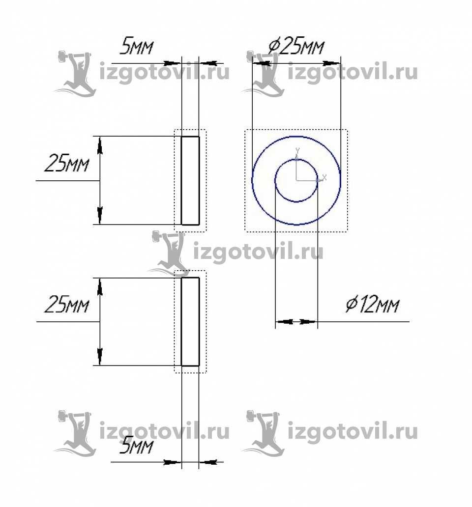 Токарно-фрезерная обработка - держатель