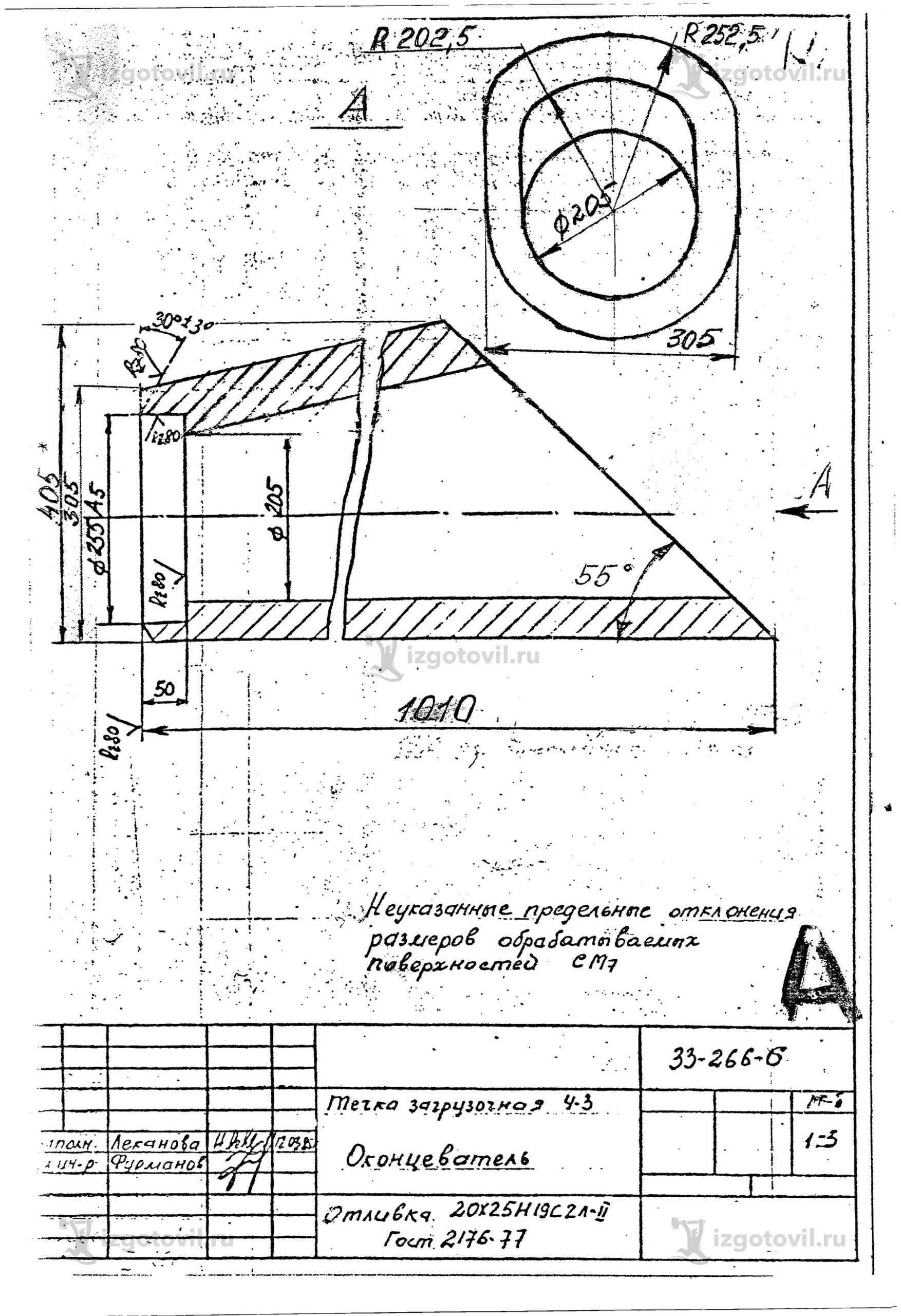 Изготовление технологических деталей (течка загрузочная).