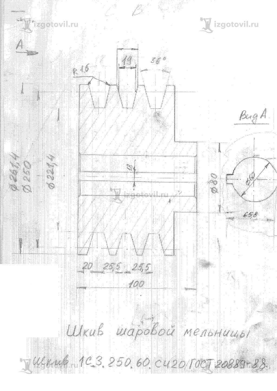 Токарные работы: изготовление шкивов