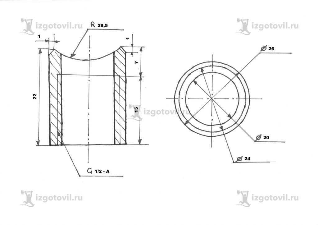 Токарная обработка ЧПУ (втулки)