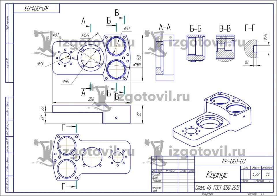 Гидроабразивная резка - изготовление деталей