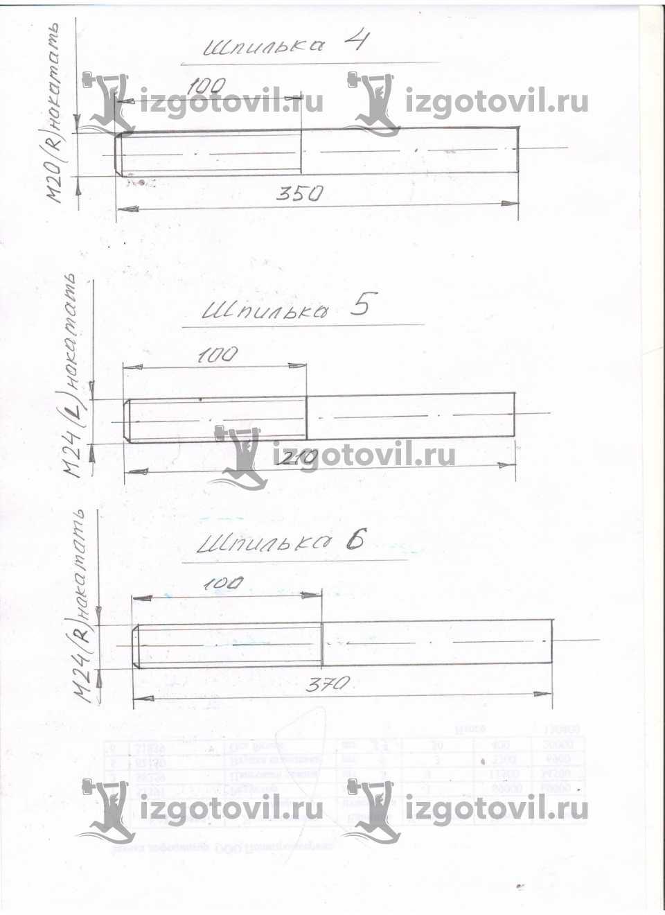 Токарная обработка ЧПУ - изготовить шпильки