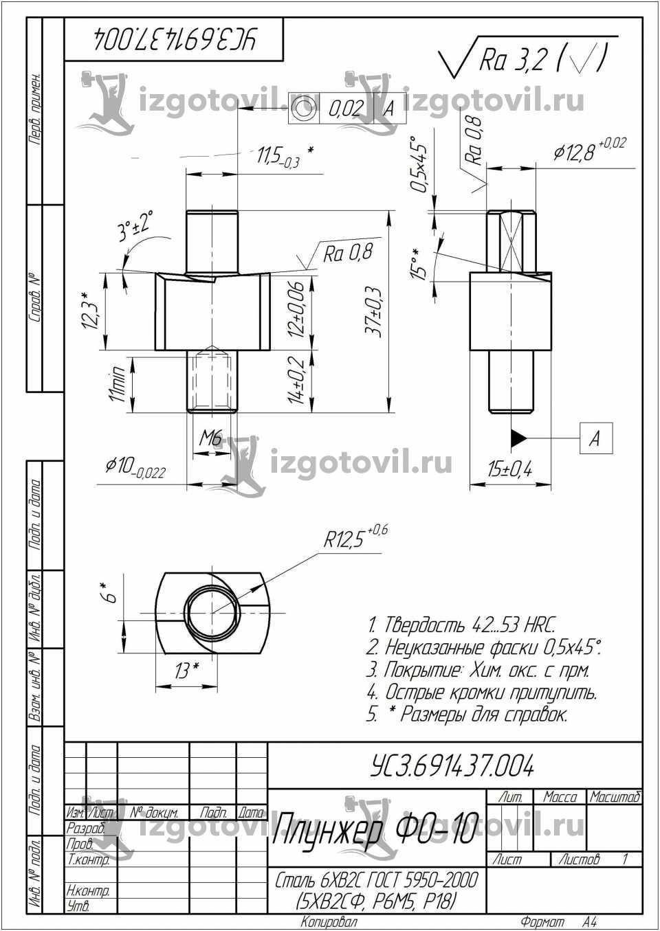 Токарная обработка ЧПУ - изготовление плунжеров