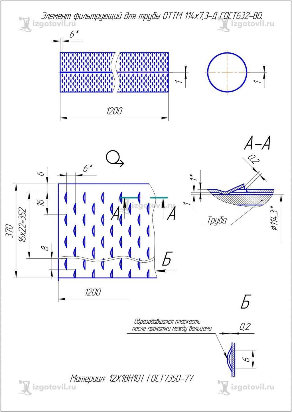 Изготовление деталей на заказ - изготовление элемента
