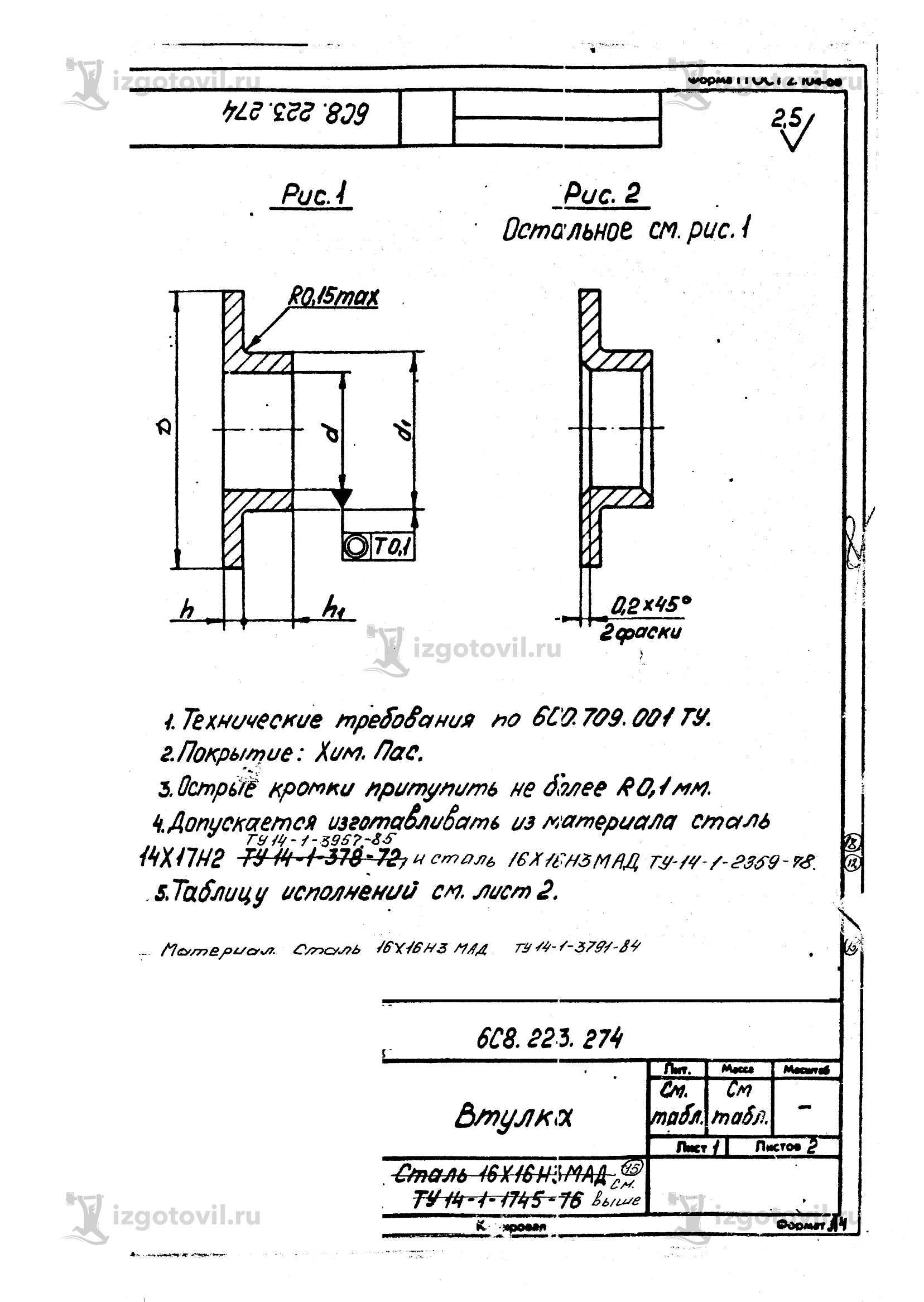 Токарная обработка стали )втулки, заклепки)