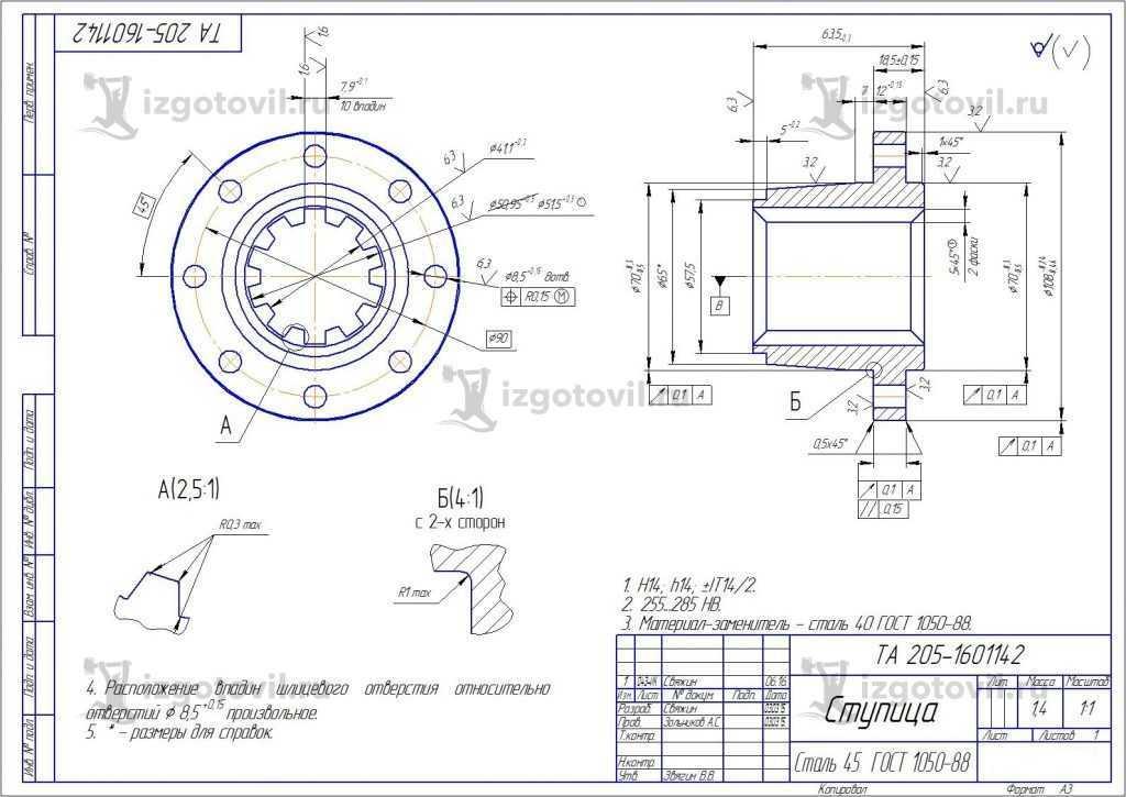 Токарная обработка деталей (поковки)