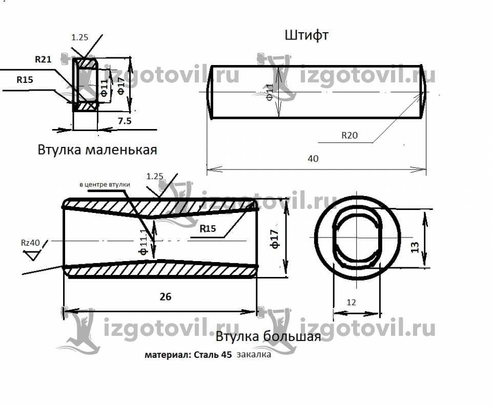 Токарная обработка ЧПУ - изготовить втулки