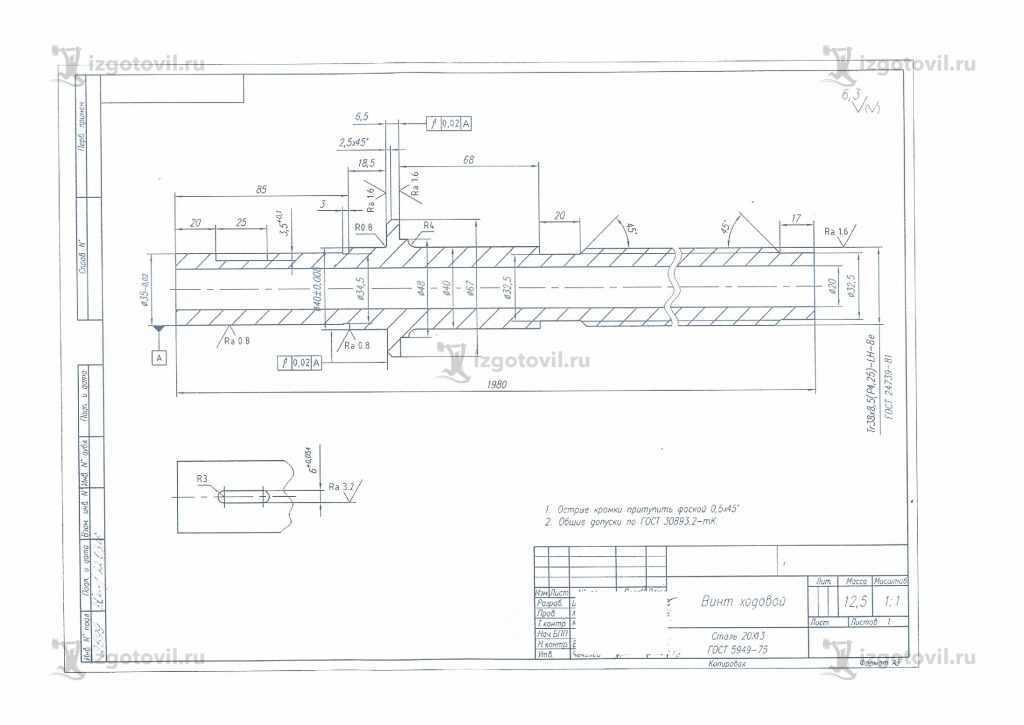 Токарная обработка деталей (детали)