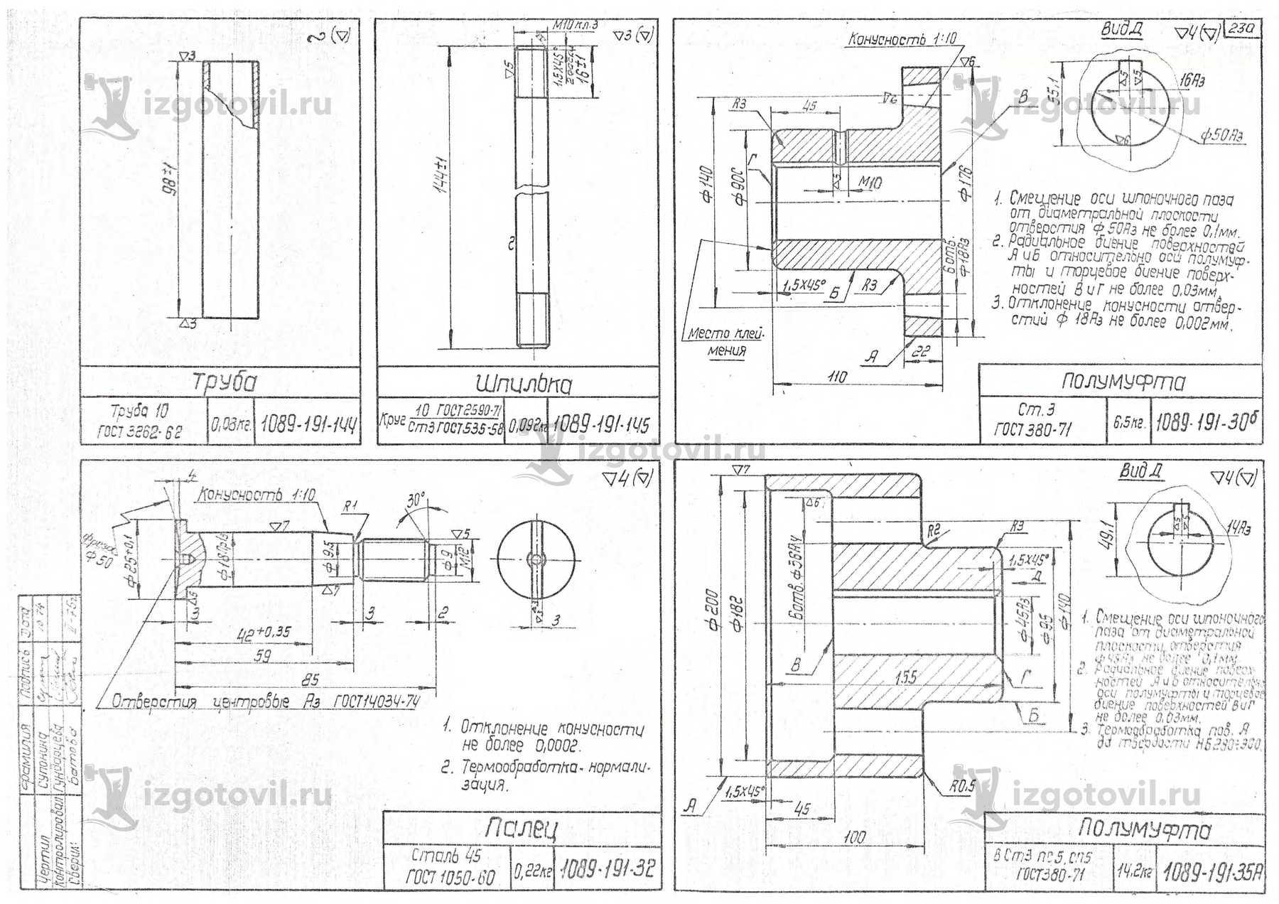 Изготовление деталей машин (детали  для Дрезины ДГКу)