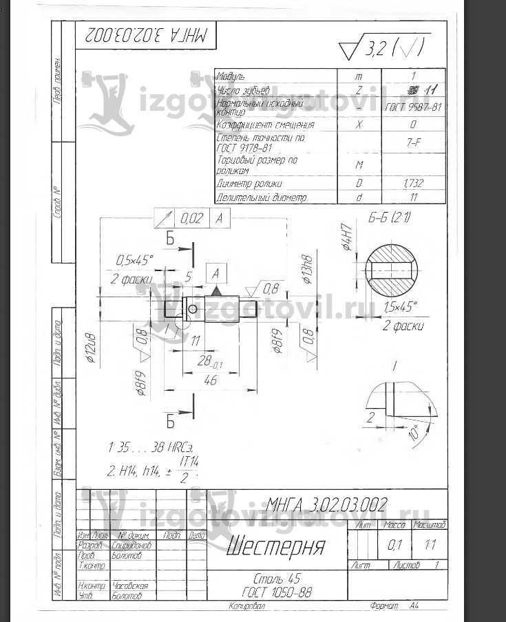 Токарно-фрезерная обработка (детали)