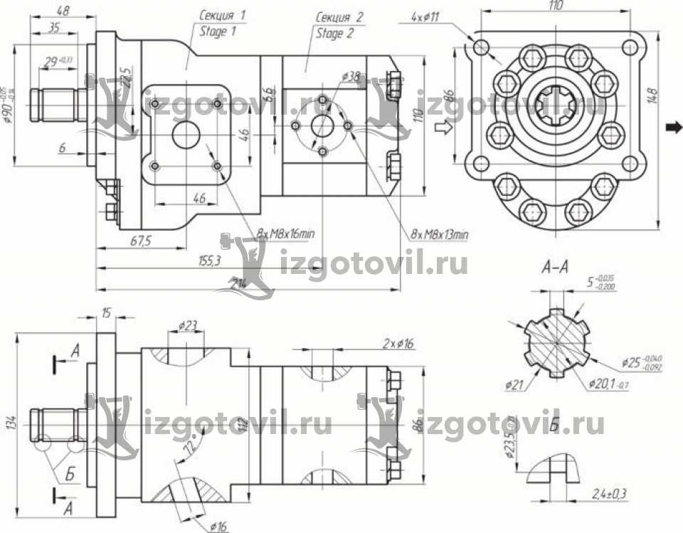 Фрезеровка металла - изготовление переходной муфты