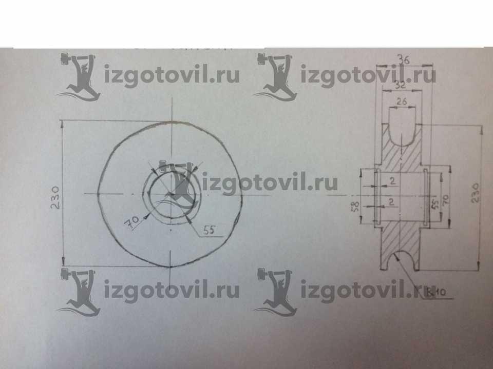 Токарная обработка деталей - изготовить шкив