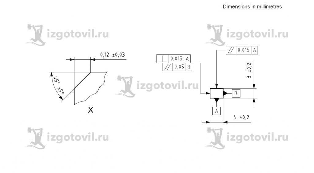 Изготовление деталей на заказ (обработка керамических образцов на плоскошлифовальном станке в соответствии с прилагаемыми усл.)