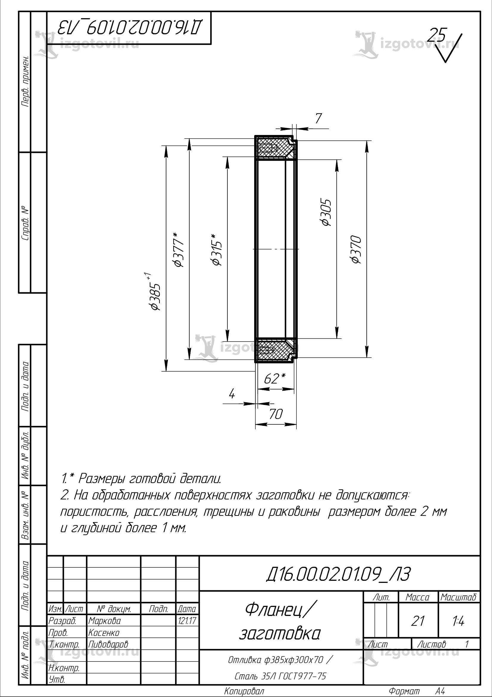Литейное производство (заготовки)