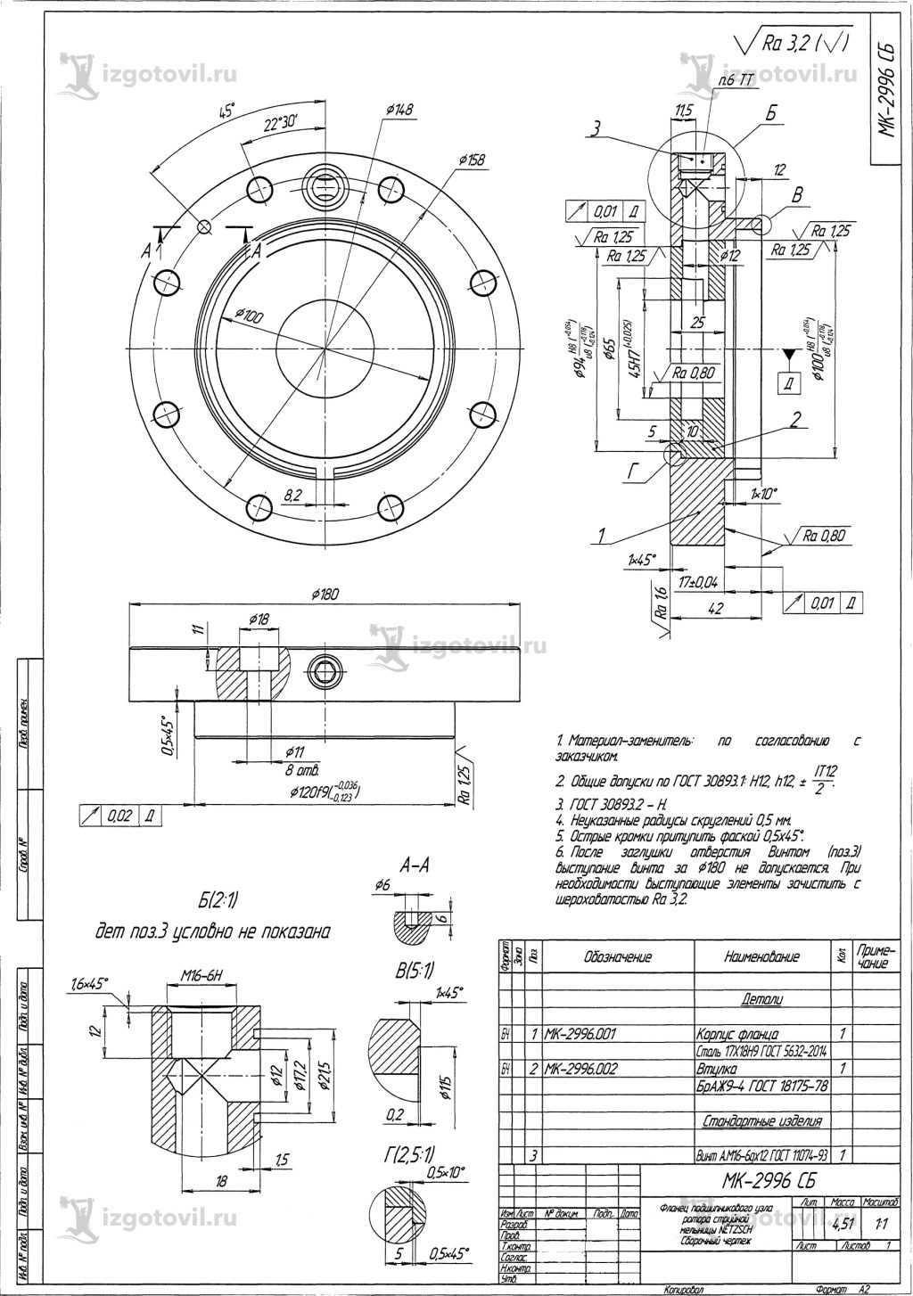 Металлообработка: изготовление фланца, вала и ступицы