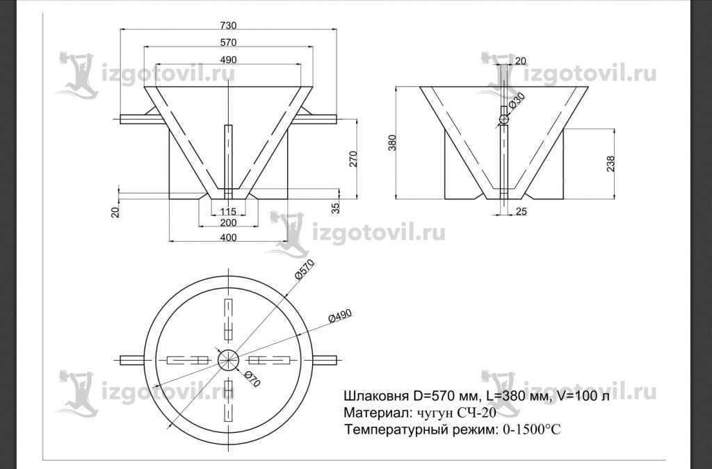 Изготовление цилиндрических деталей (шлаковня)