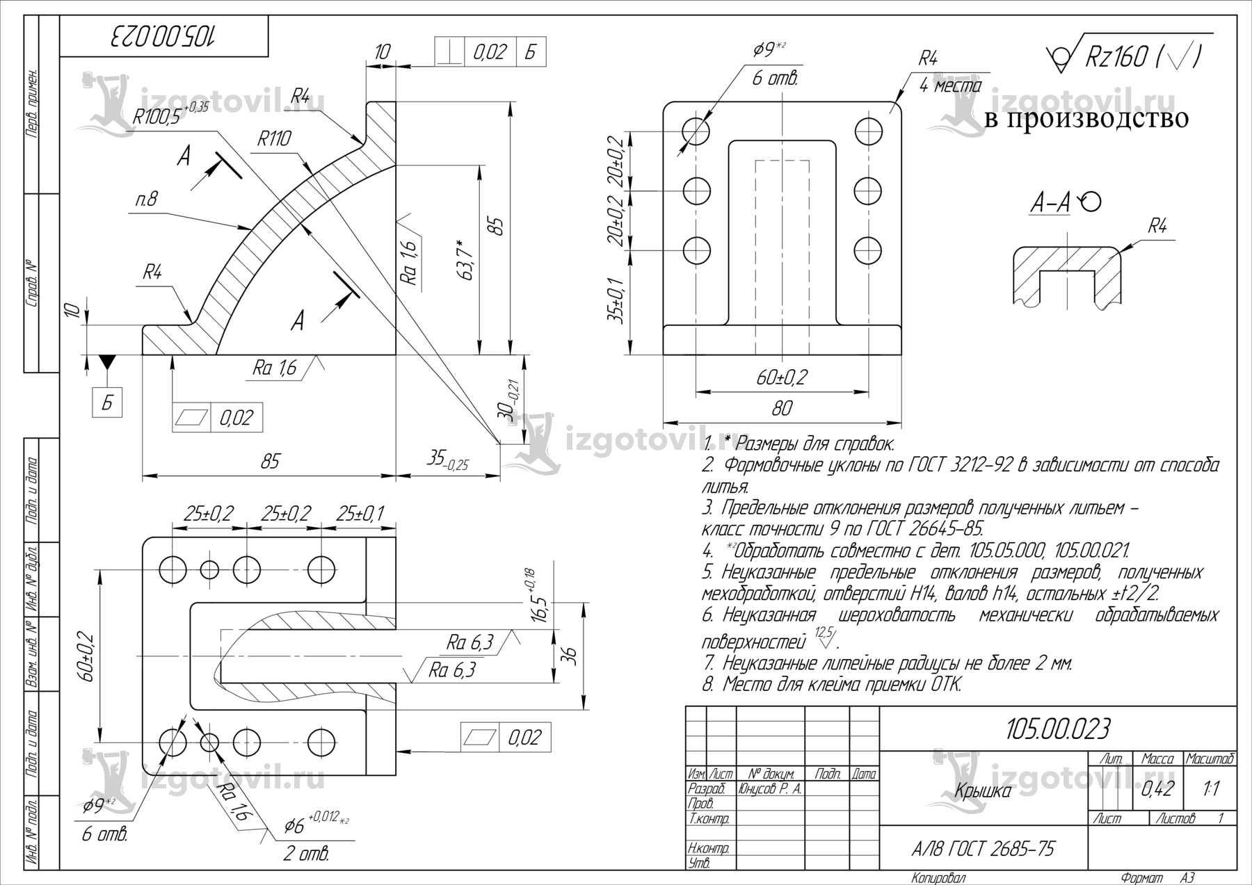 Изготовление деталей на станках (детали).