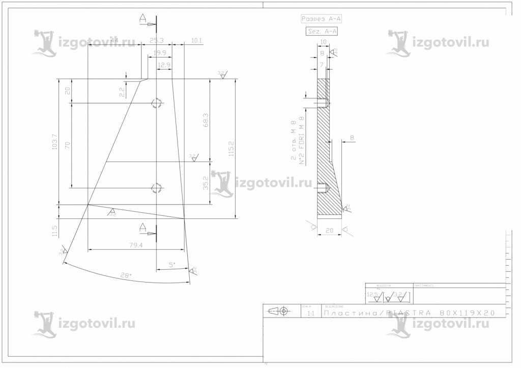 Изготовление деталей на заказ - изготовление пластины и внутренние диафрагмы дисков