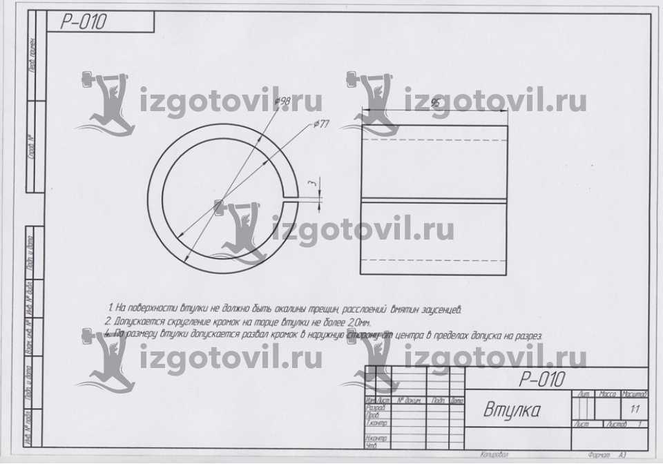 Литейное производство - Палец черпаковый