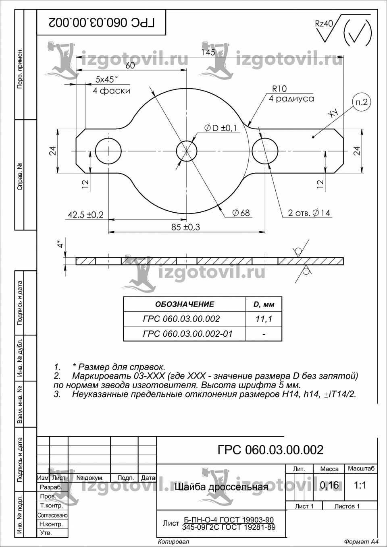 Лазерная резка - изготовление шайб