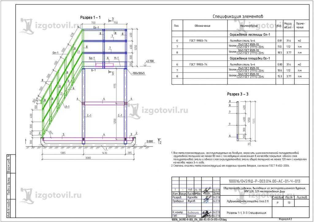 Изготовление металлоконструкций ( лестница).