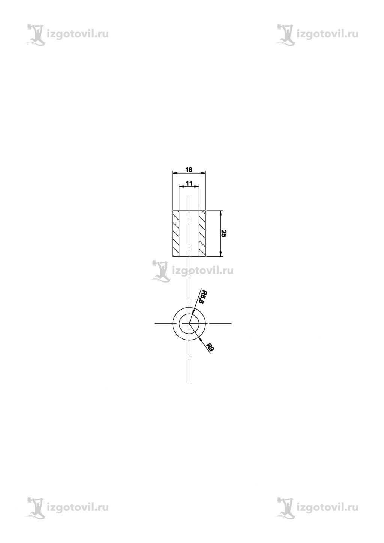 Изготовление деталей по чертежам (направляющая и шайба для пружины).