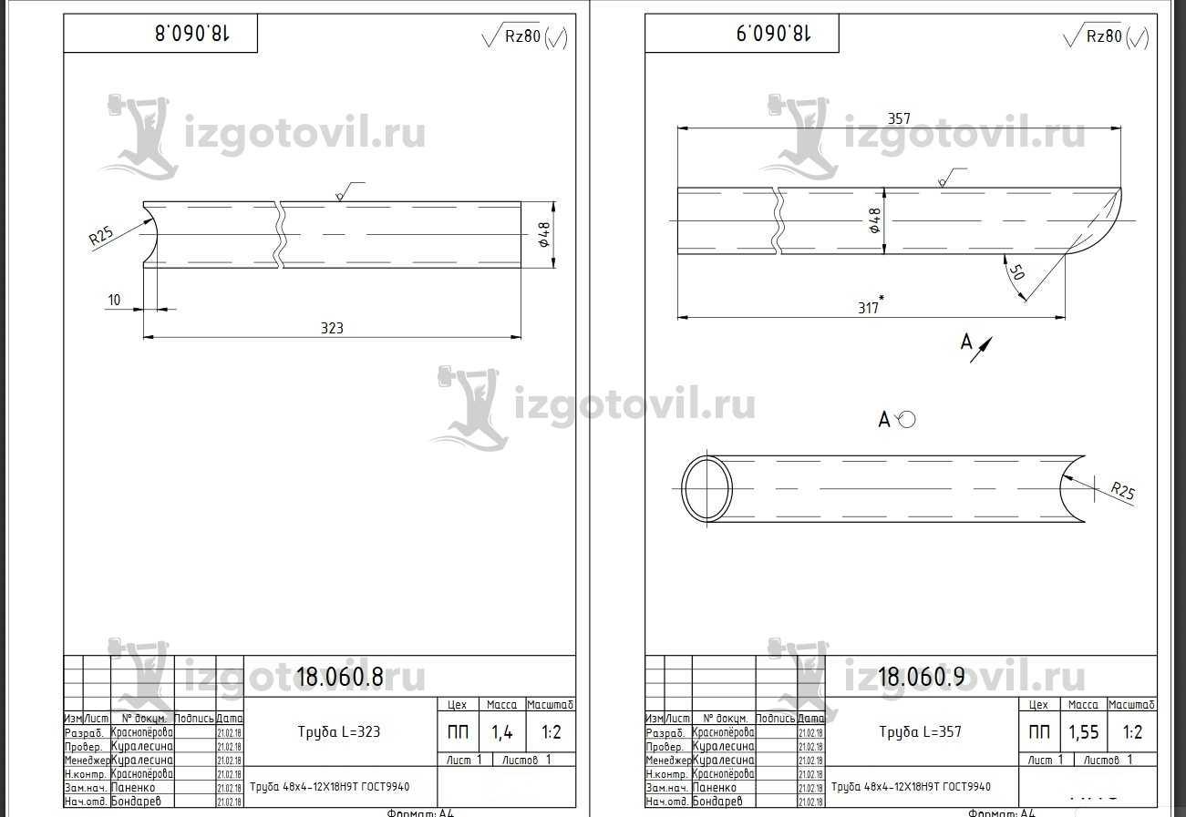 Металлоконструкции (по чертежам)