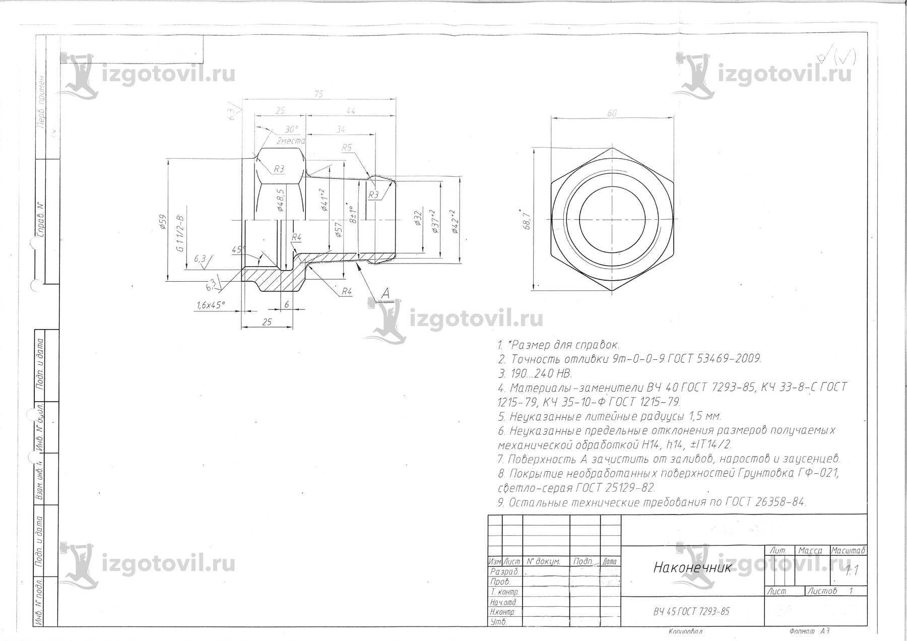 Литейное производство (детали)