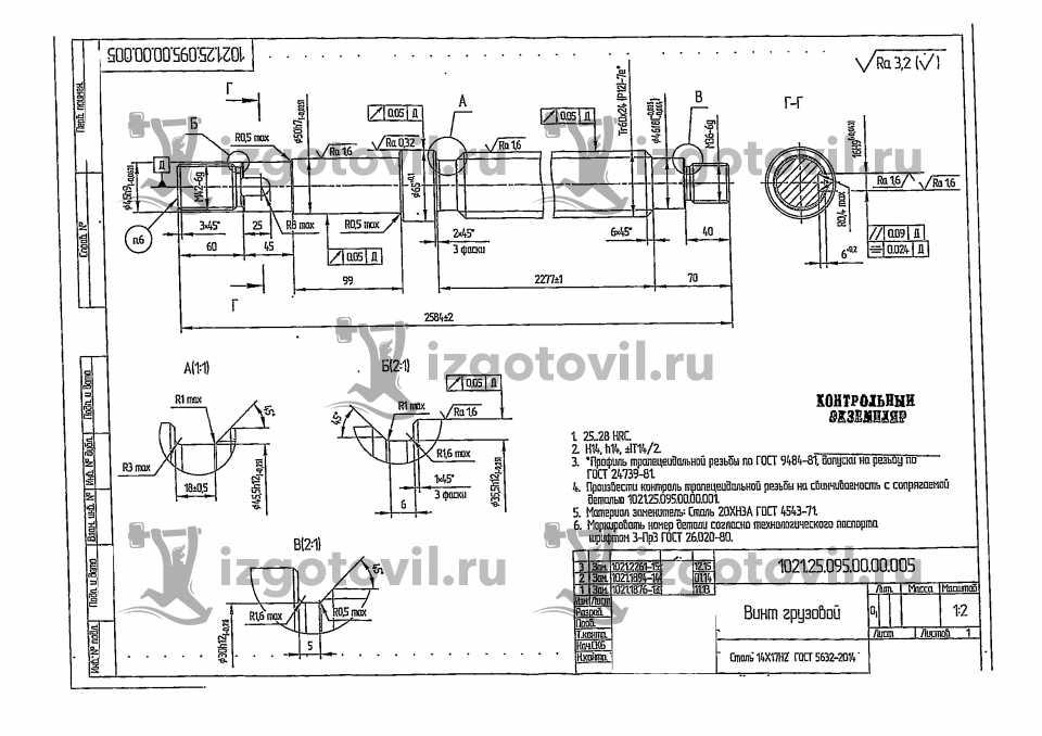 Токарная обработка стали - изделие Шар