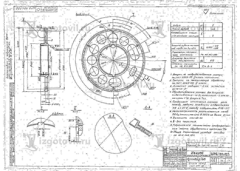 Изготовление цилиндрических деталей ( колесо цилиндрическое)