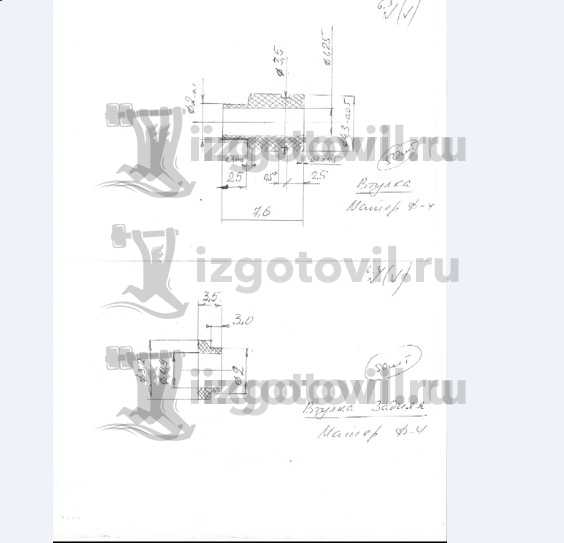 Токарная обработка деталей (втулки)