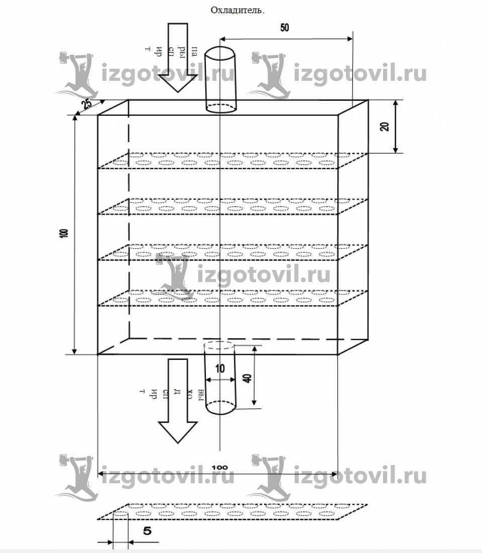 Фрезеровка - изготовить охладитель