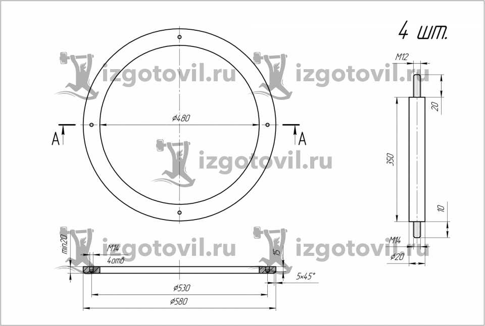 Литейное производство - изготовление колец из чугуна