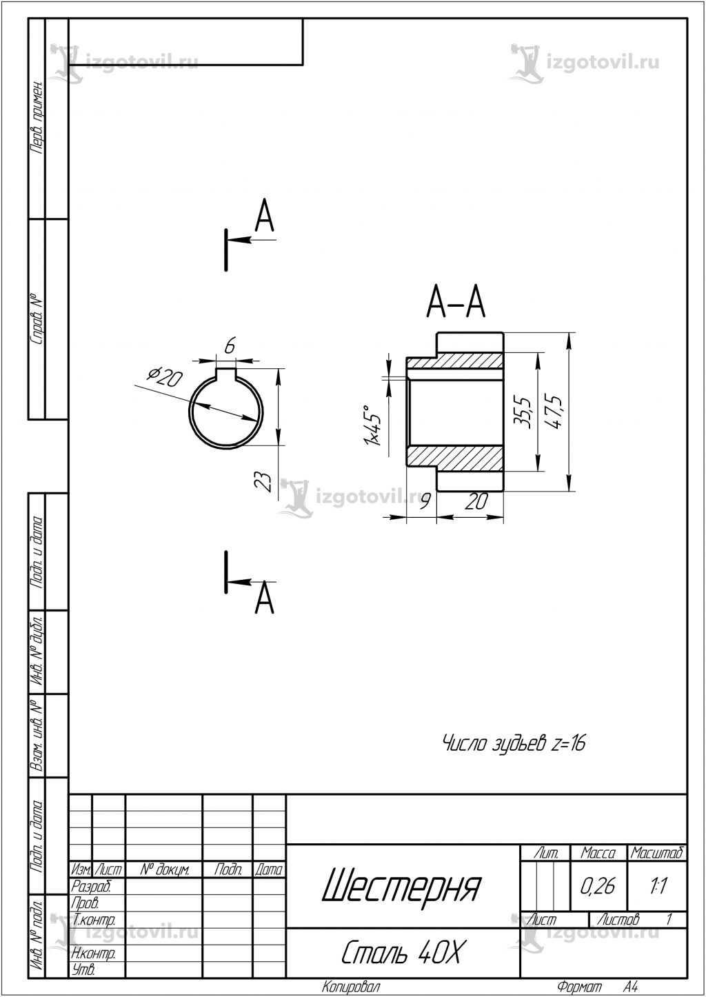 Изготовление шестерен (шестерни)