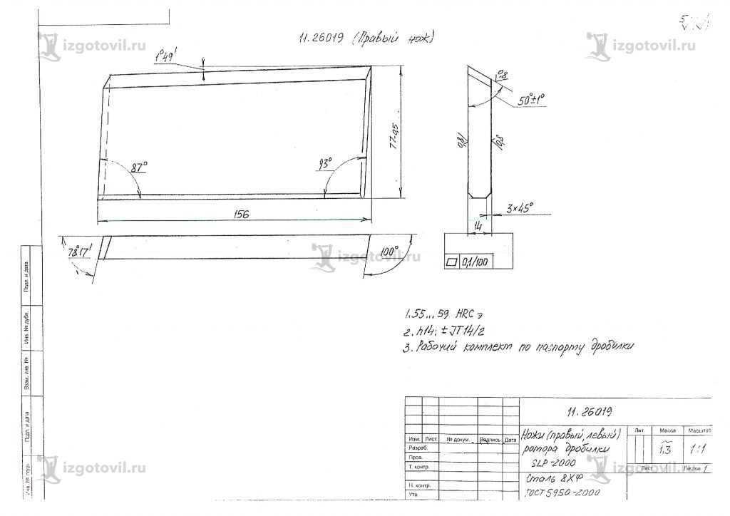 Фрезерная обработка: изготовление ножей