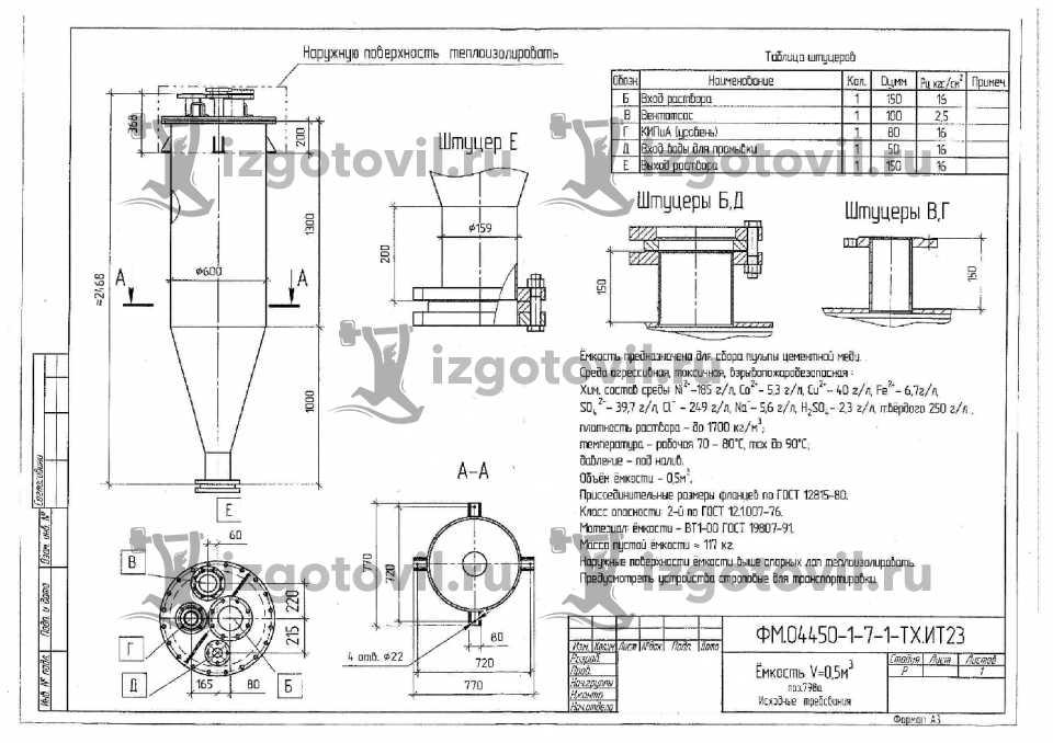 Токарно-фрезерная обработка - изготовление емкости