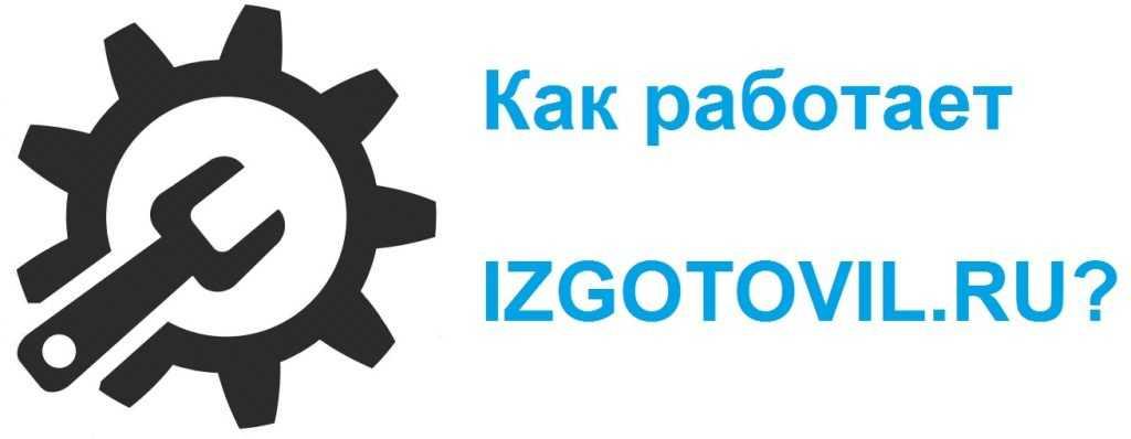 Как работает IZGOTOVIL.RU?