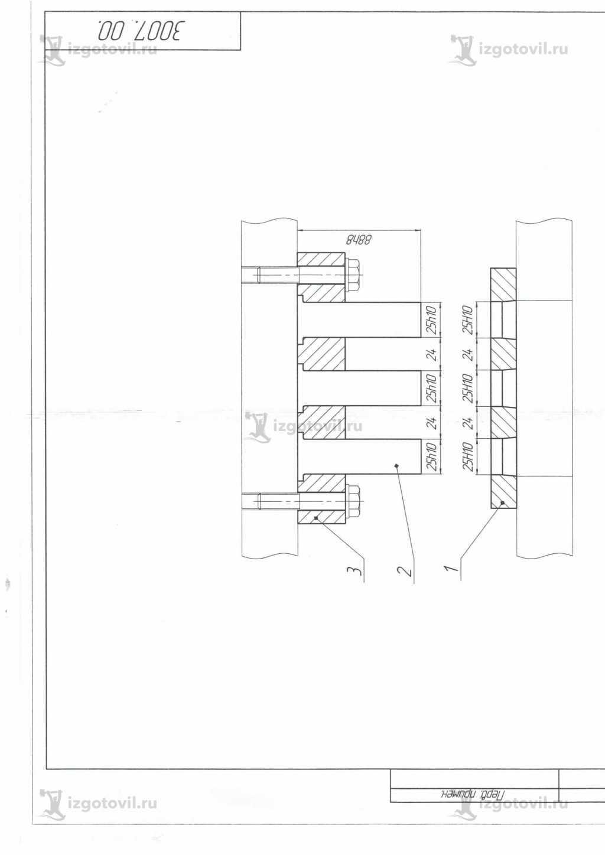Изготовление деталей оборудования (Штампдля стыковки конвейерных лент )