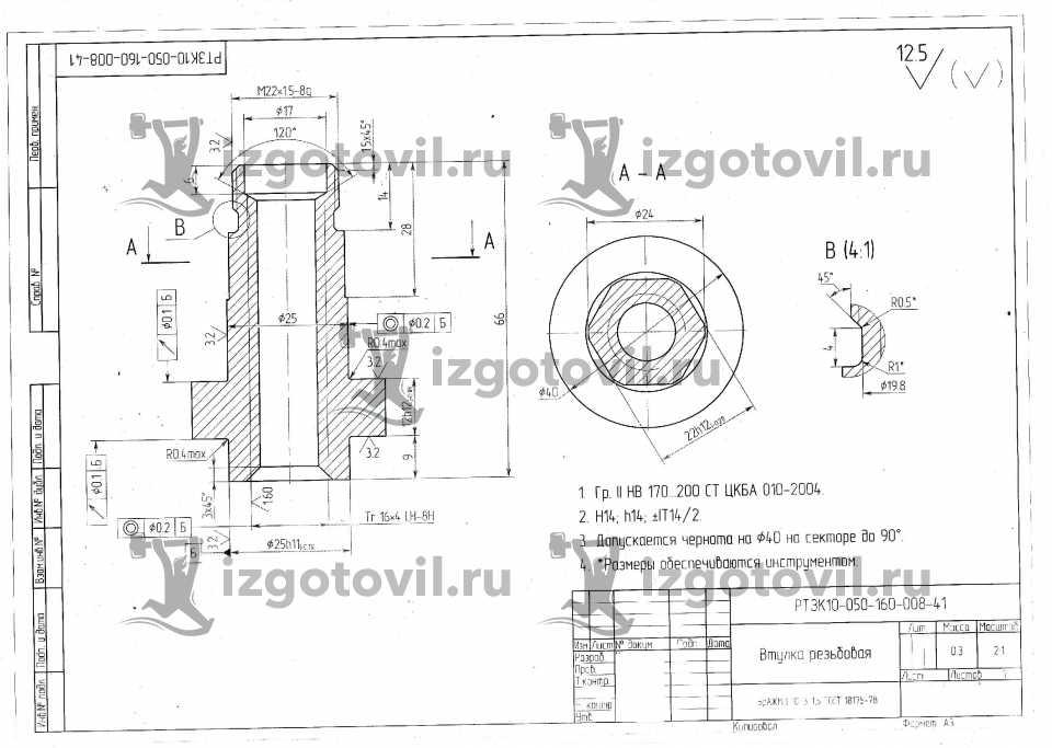 Токарная обработка ЧПУ - изготовление втулок