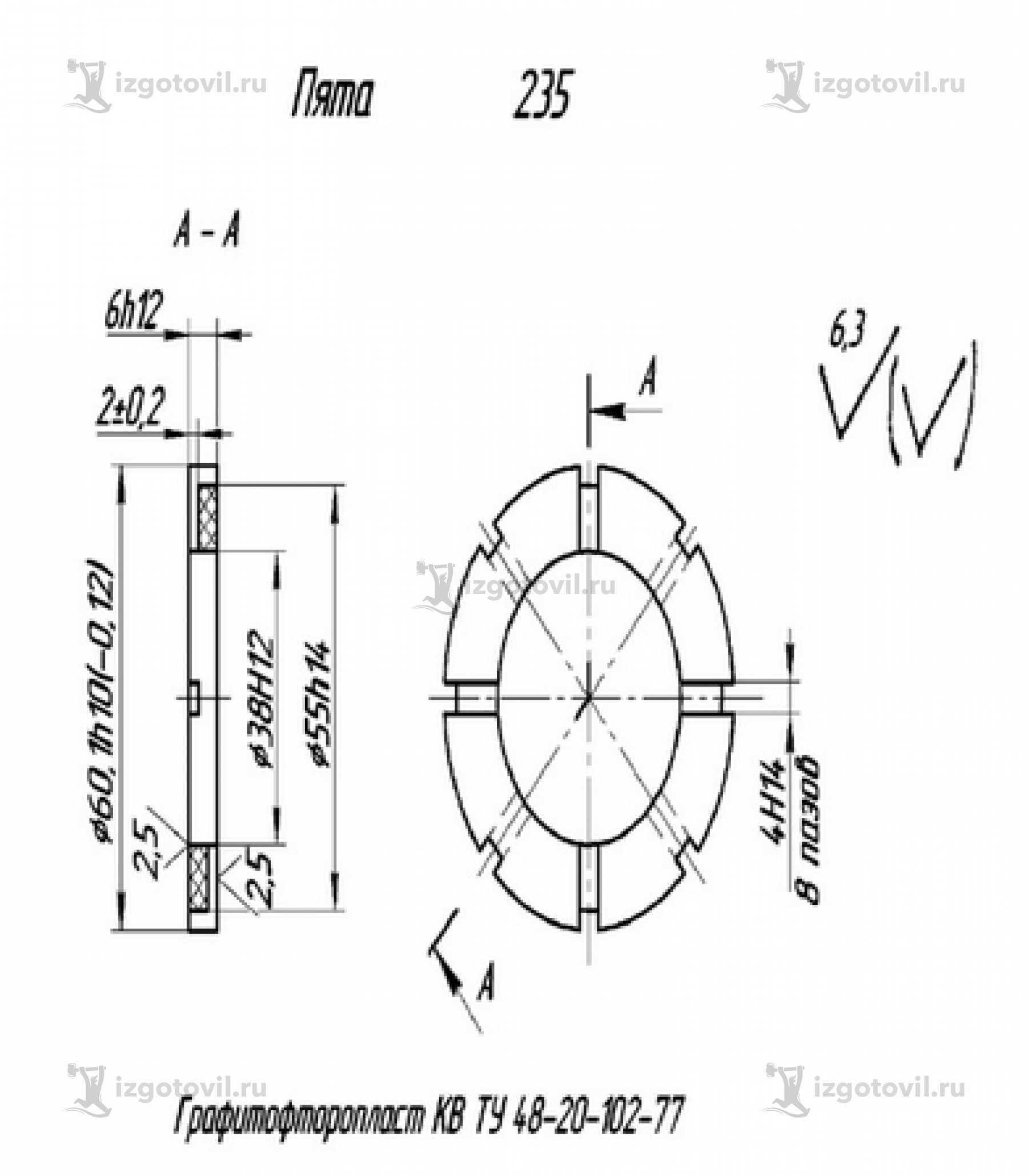 Изготовление деталей по чертежам - изготовление втулки, пяты, вкладыша