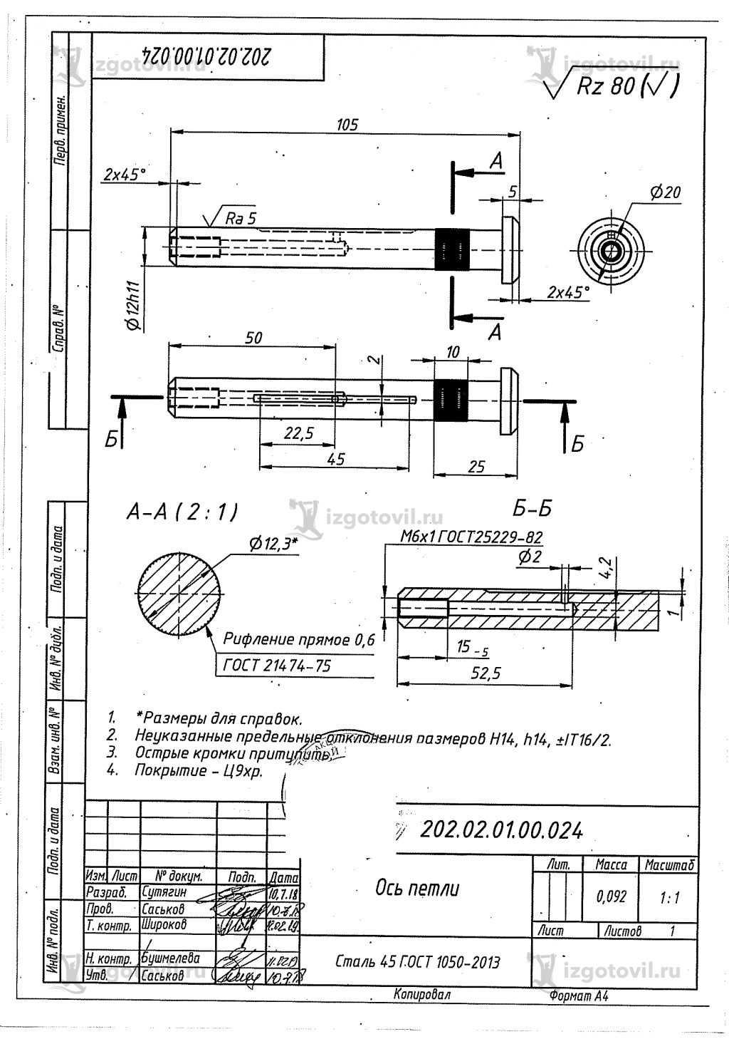Изготовление деталей на заказ (петли для дверей экскаватора).