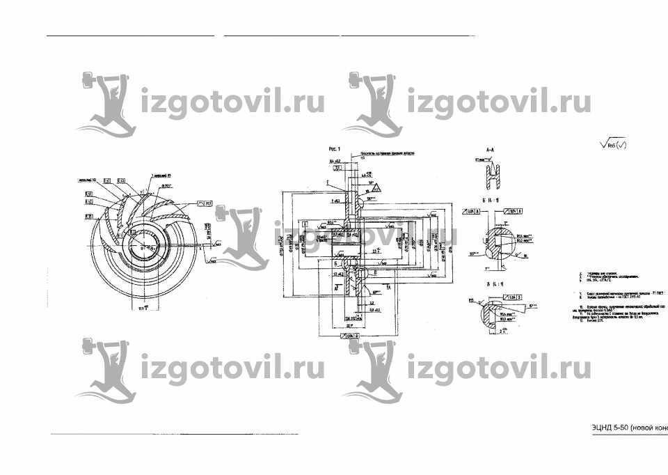 Литейное производство - изготовление направляющего аппарата