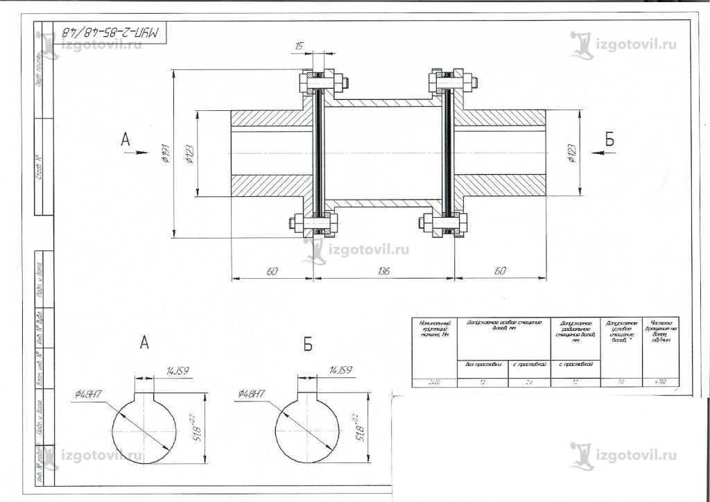 Изготовление цилиндрических деталей (муфта)
