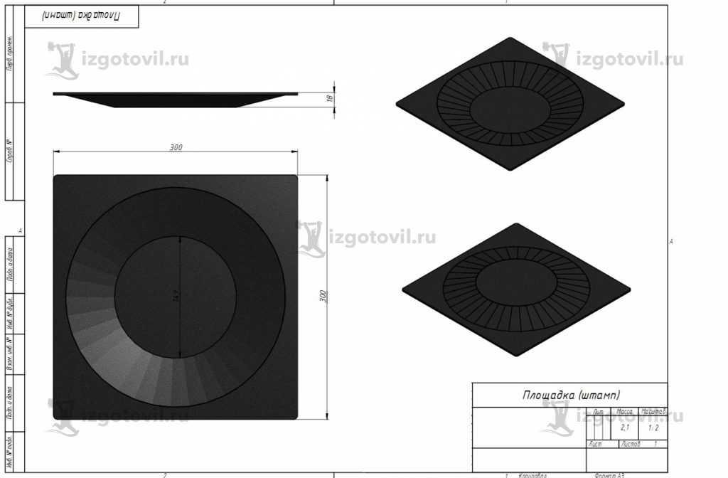 Пресс формы штампы - изготовление штампа
