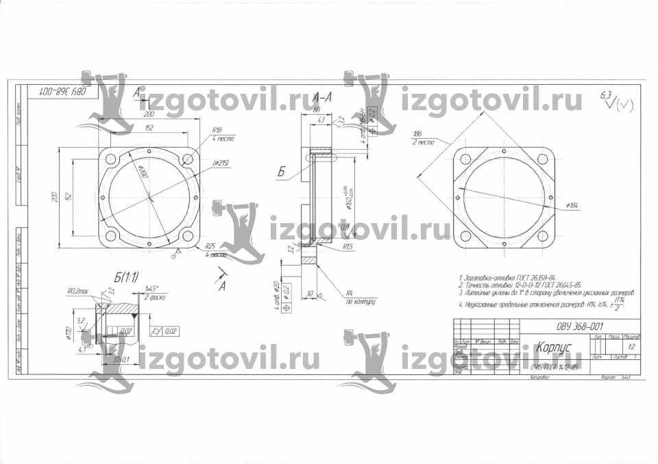 Литейное производство - изготовление корпусов